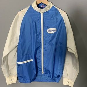 Vintage Triumph Motorcycles Nylon Wind Jacket
